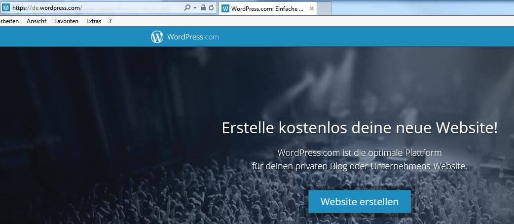 Wordpress Website erstellen auf WordPress.com